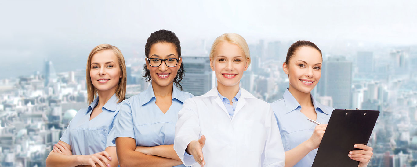 Banner image - smiling healthcare staff