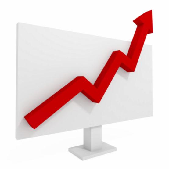 Uptrending graph